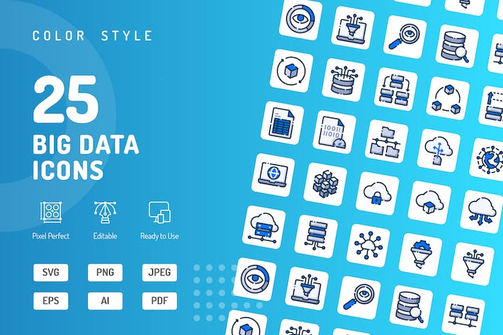 Thumbnail for Big Data Color Icons