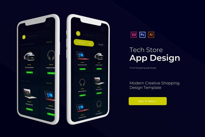 Thumbnail for Tech Store | App Vorlage