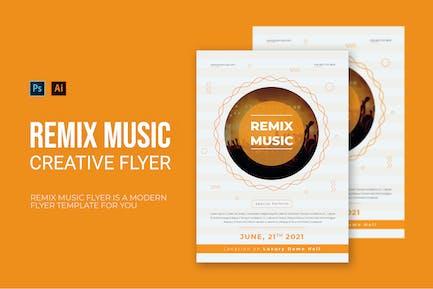 Remix Music - Flyer