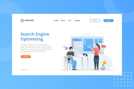 Search Engine Optimizing Landing Page