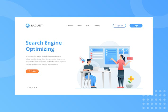 Thumbnail for Search Engine Optimizing Landing Page