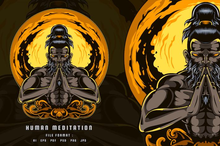 Menschliche Meditation