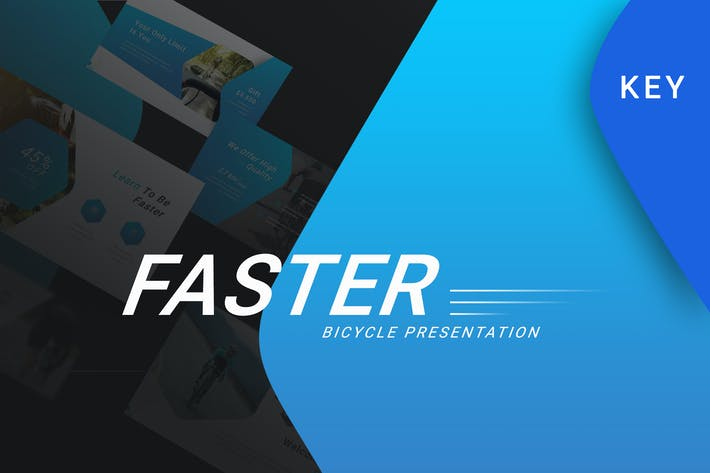 Thumbnail for Faster - Sport Keynote Template