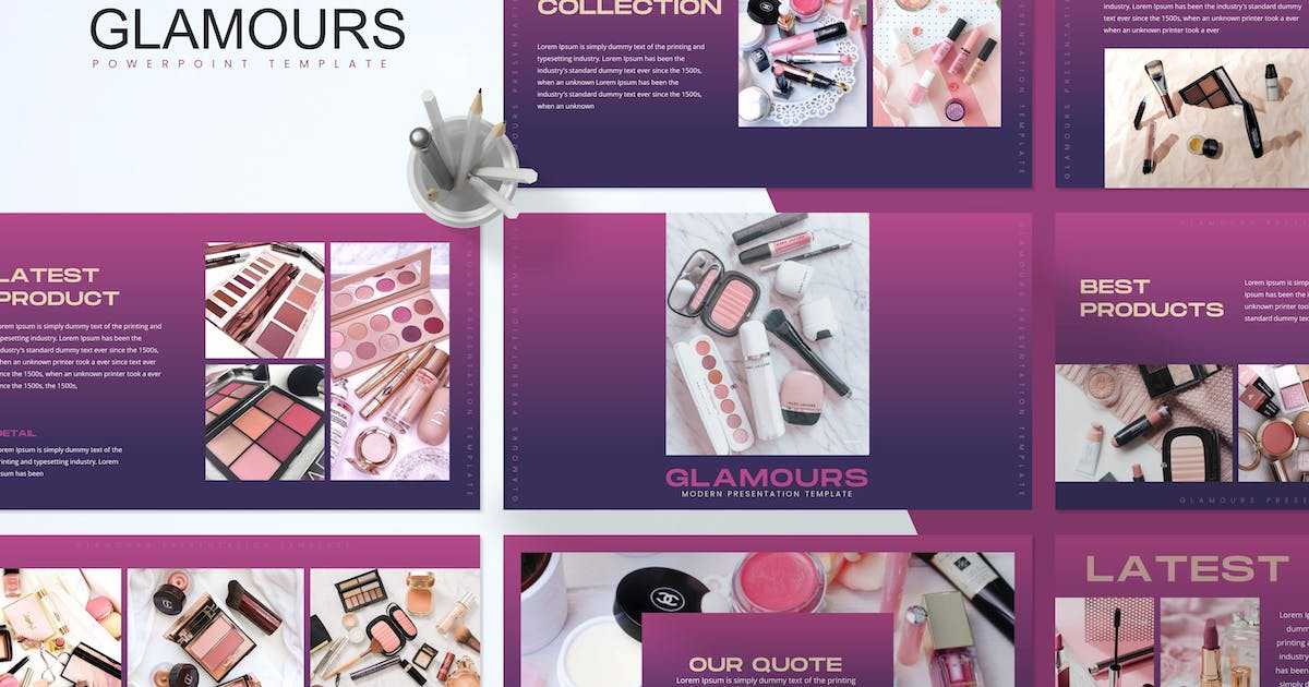 Download Glamours - Cosmetic Powerpoint Template by UnicodeID
