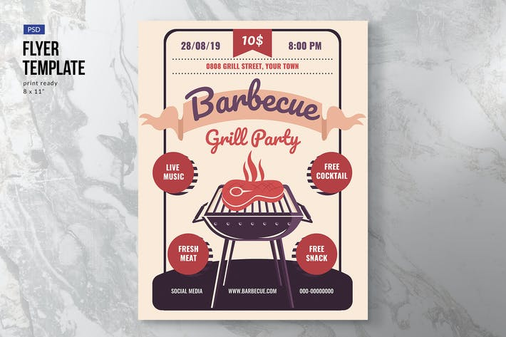 Thumbnail for Barbeque Party Event Flyer