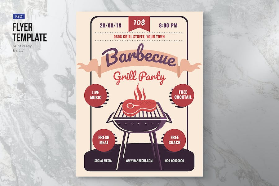Barbeque Party Event Flyer