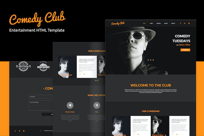 Thumbnail for Comedy Club - Entertainment HTML Template