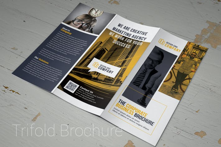 Cover Image For Orange & White Trifold Brochure