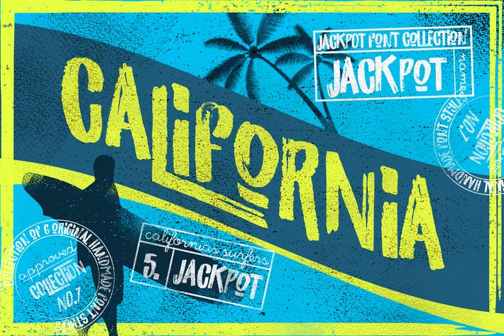 Thumbnail for California Jackpot Font