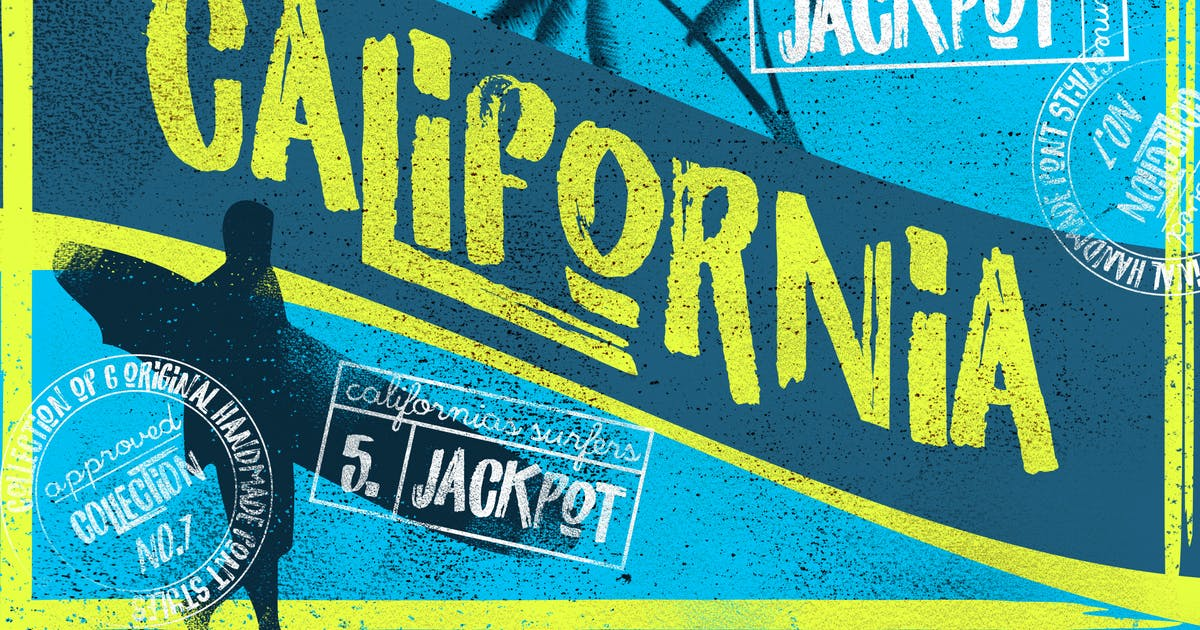 Download California Jackpot Font by LeoSupply