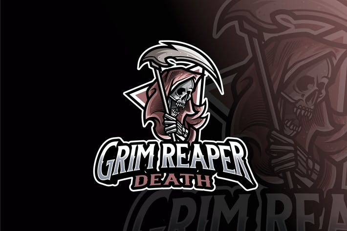 Thumbnail for Grim Reaper Logo Template