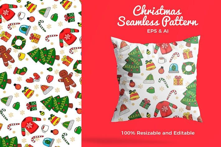 Thumbnail for Christmas Pattern - Vector Illustration