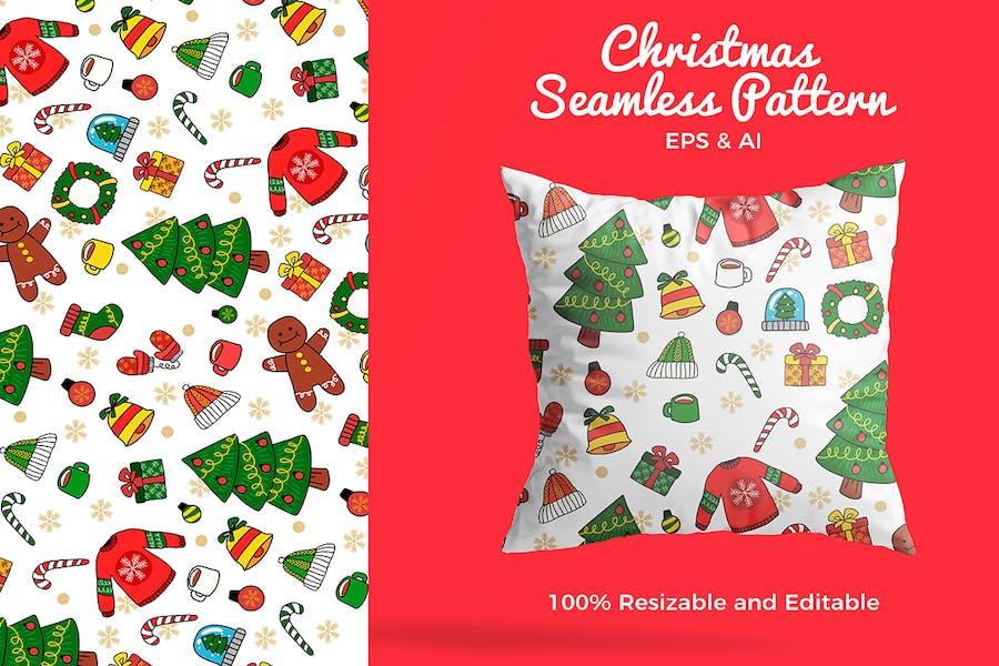 Christmas Pattern - Vector Illustration
