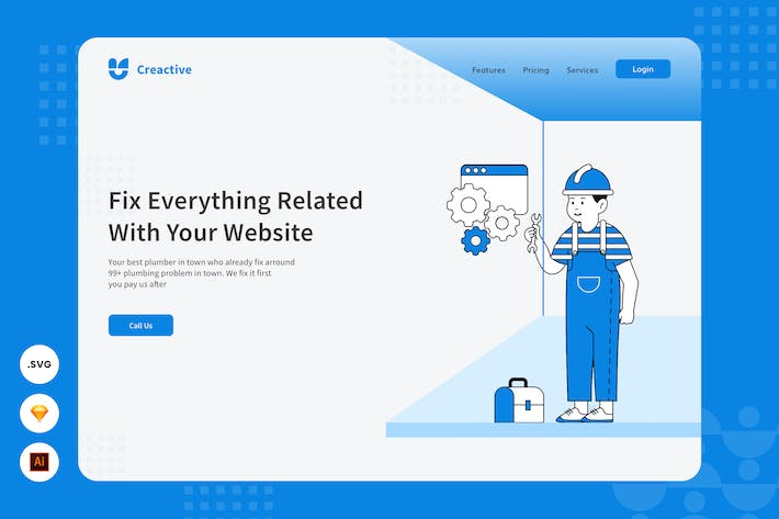 Website Repairment - Website Header Illustration