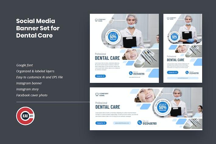 Social Media Banner Set for Dental Care