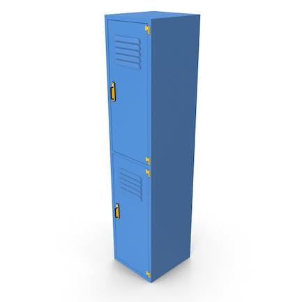 Metall-Kleiderschrank Blau