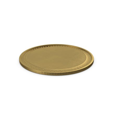 Goldenes Medaillon leer