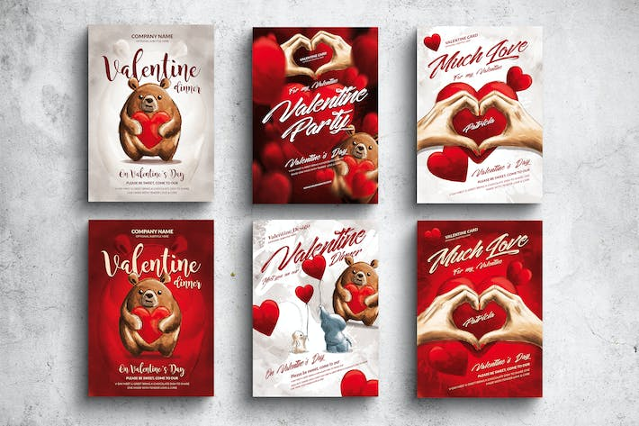 Thumbnail for Valentine Posters & Cards Bundle