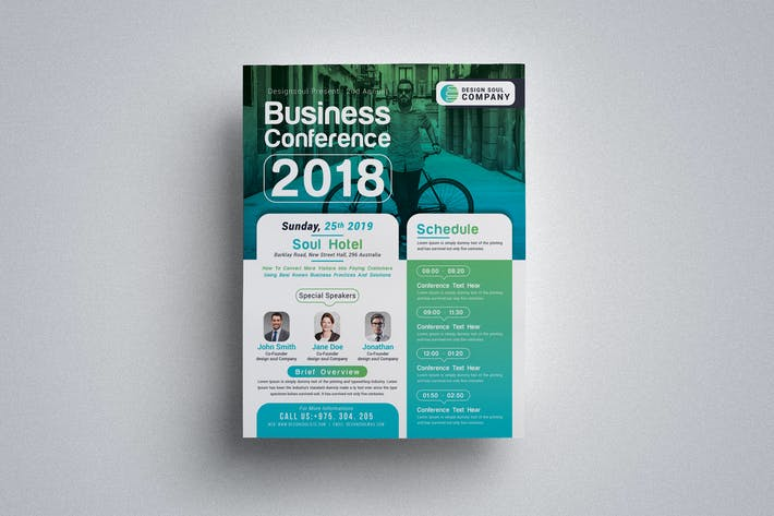 Cover Image For Business Conference Fyer