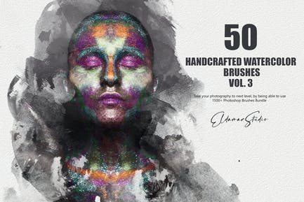 50 Handcrafted Watercolor Brushes - Vol. 3
