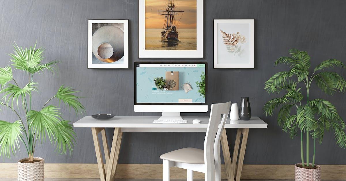 Download Desktop Screen And Frames Mock Up by RGraphicsDesign_NT