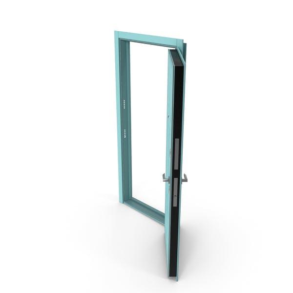 Entrance Door Turquoise