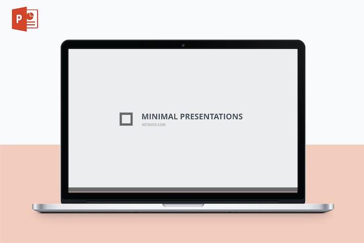 МИНИМАЛИСТ - Многоцелевой Шаблон PowerPoint V10