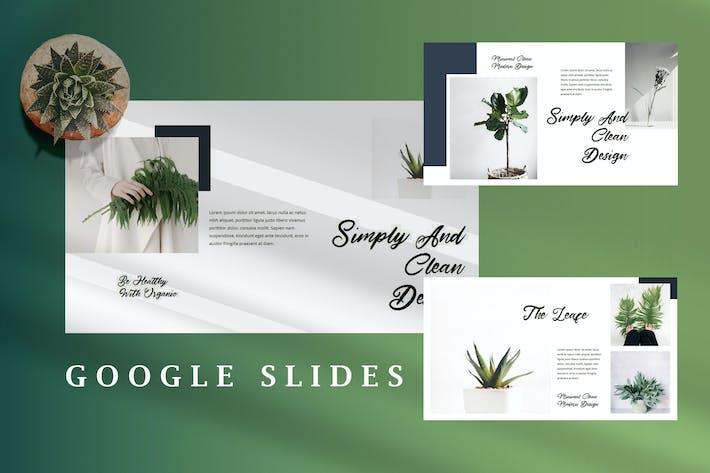 Thumbnail for Minimal Fresh Leaf - Nature Creative Google Slides