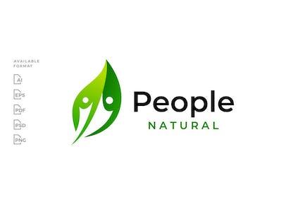 Leaf People Human Logo