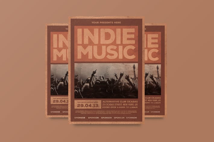 Cover Image For Indie Music Flyer