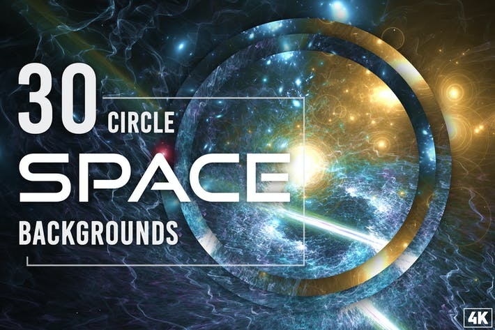30 Abstrakte Kreis-Weltraum-Hintergründe - Band 2