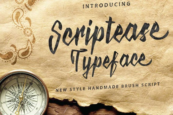Cover Image For Scriptease Typeface