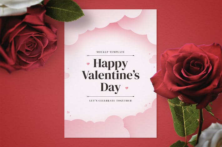 Thumbnail for Valentine's Day Flyer Mockup Template