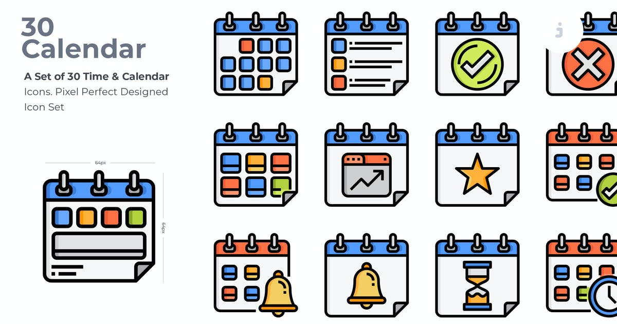Download 30 Time & Celendar Icons by Justicon