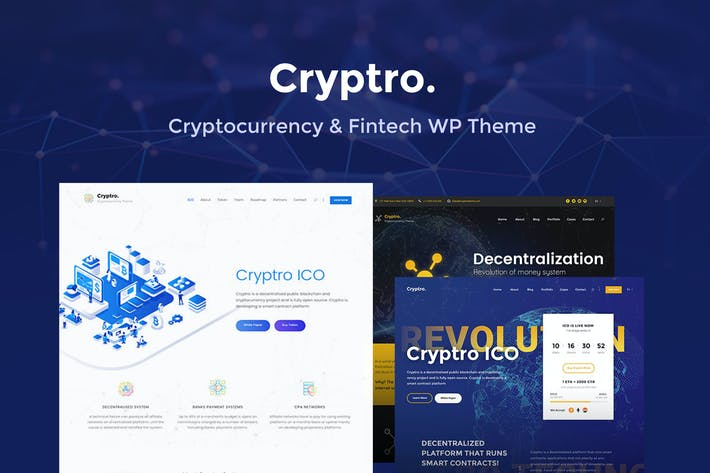 Thumbnail for Cryptro- Cryptocurrency, Blockchain, Bitcoin Theme