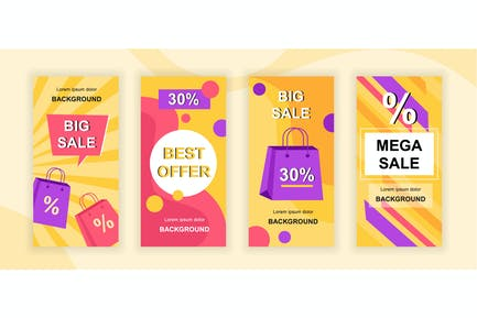 Mega Sale Instagram Stories Social Media Template