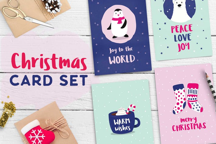 Cover Image For Cute Christmas Card Set