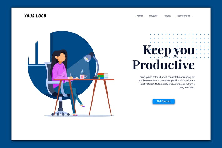 Thumbnail for Productive - Landing Page