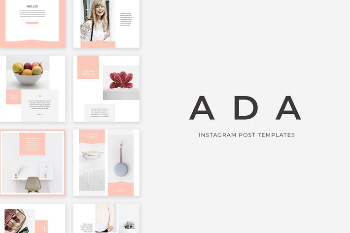 Thumbnail for Ada Instagram Post Templates