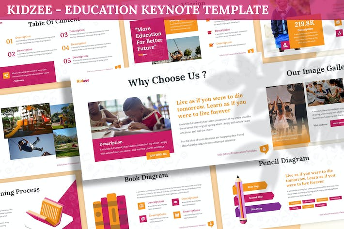 Thumbnail for Kidzee - Education Keynote Template