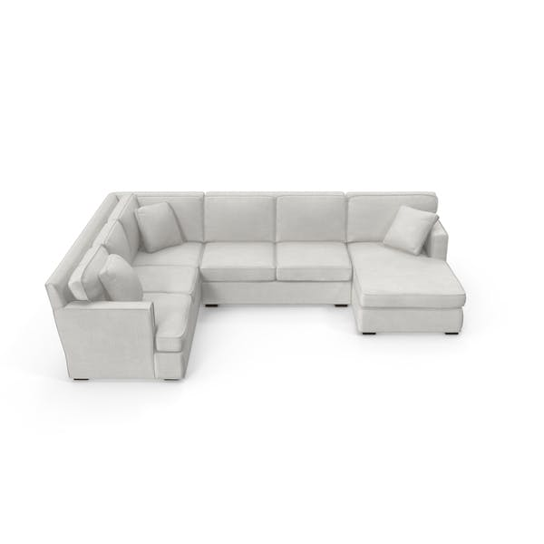 Transitonal Sectional Sofa