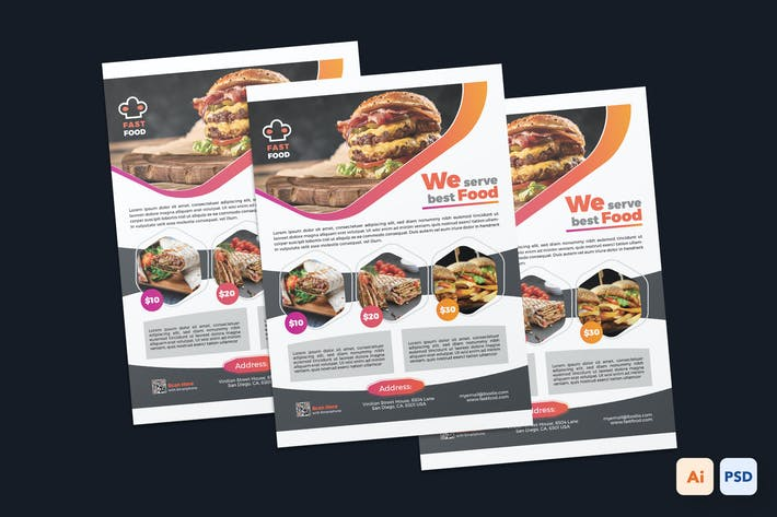 Thumbnail for Fast Food Restaurant Flyer