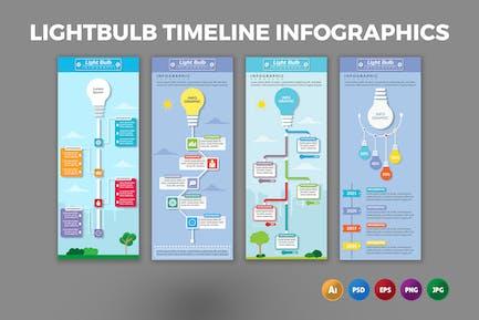 Lightbulb Timeline – Infographics Design
