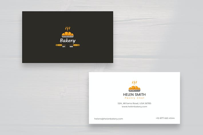 895 layered business card print templates and product mockups thumbnail for pastry chef business card colourmoves