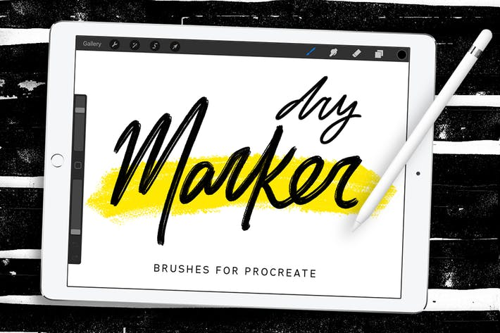Dry Marker Brushes for Procreate