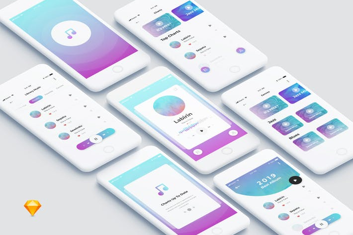 Thumbnail for One - Music Mobile App Ui Kit