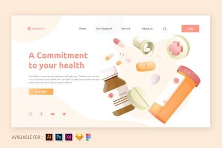 Medical Drugs - Web Illustration