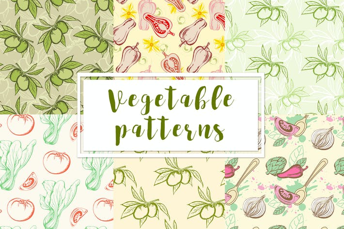 Thumbnail for Vegetable Seamless Patterns