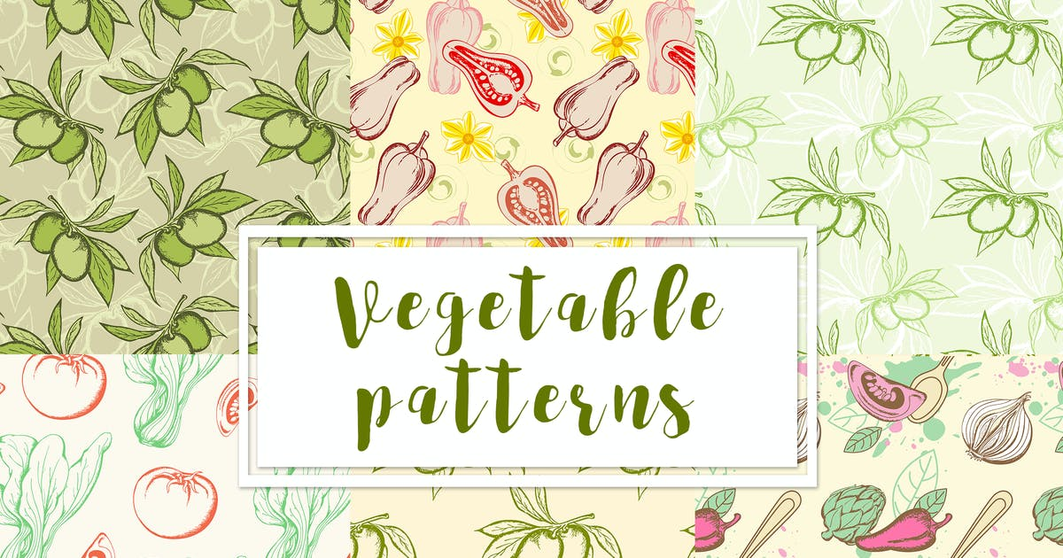 Download Vegetable Seamless Patterns by Artness