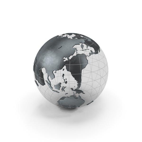 Globe Schwarz Metal